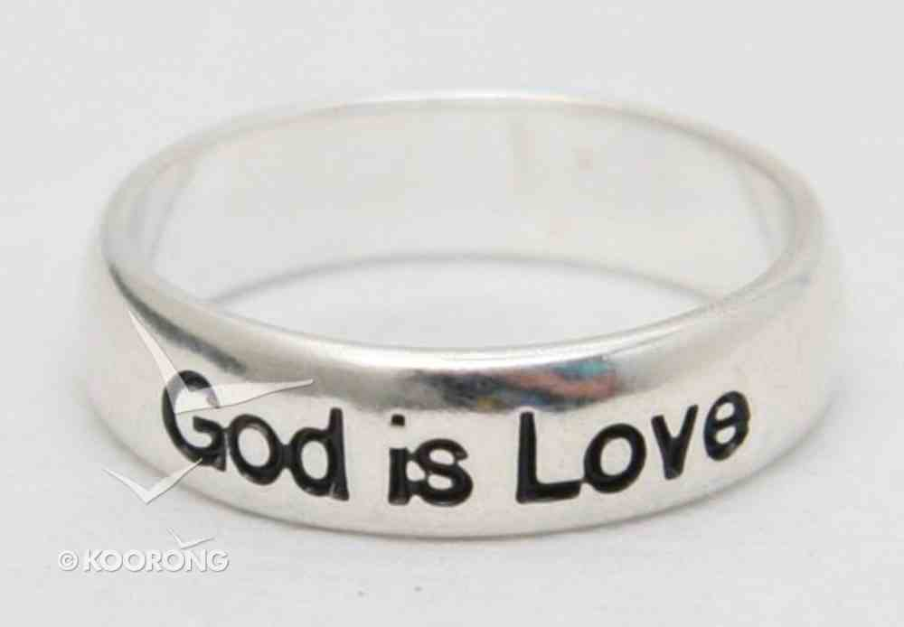 Ring: God is Love Size 6 (Sterling Silver) Jewellery