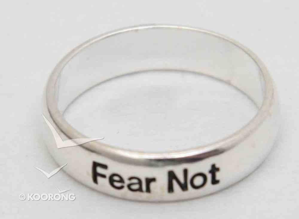 Ring: Fear Not Size 6 (Sterling Silver) Jewellery