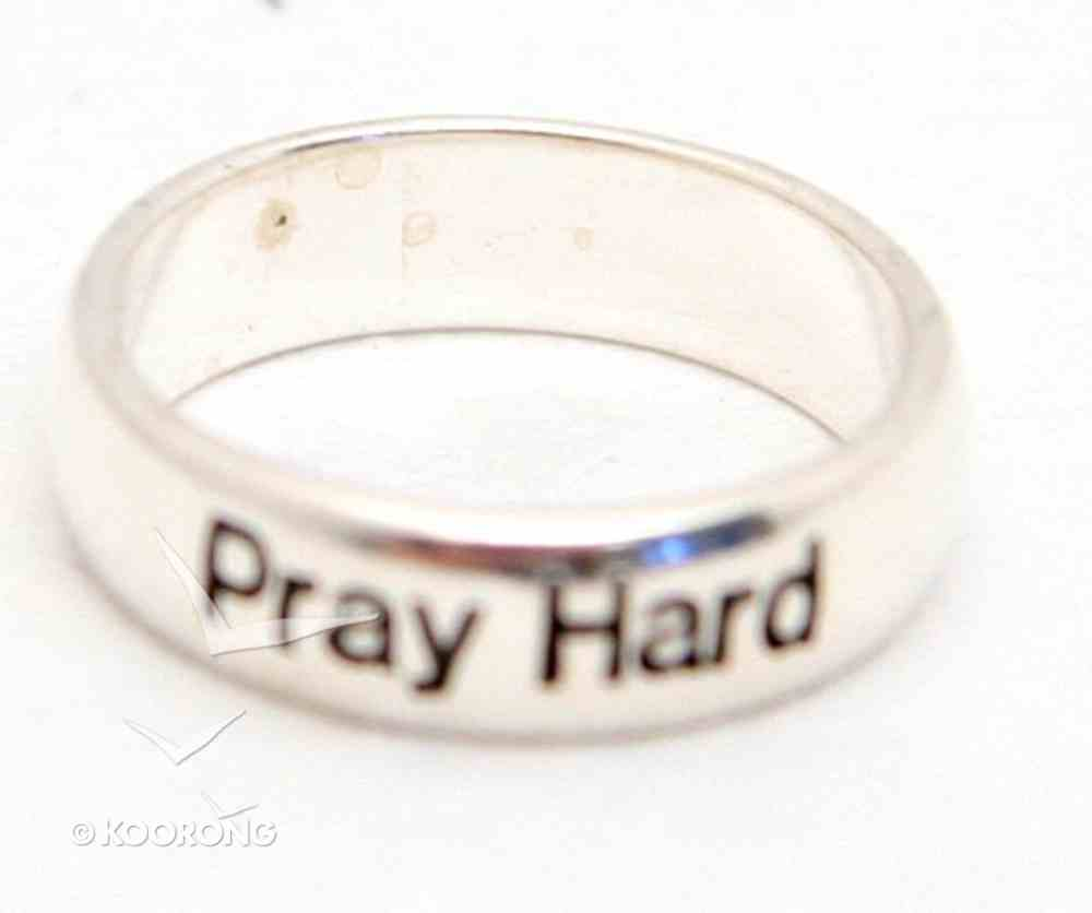 Ring: Pray Hard Size 5 (Sterling Silver) Jewellery