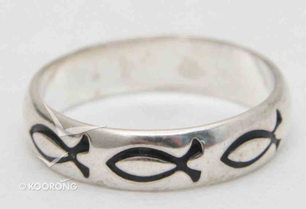Ring: Fish Size 08 Sterling Silver Jewellery