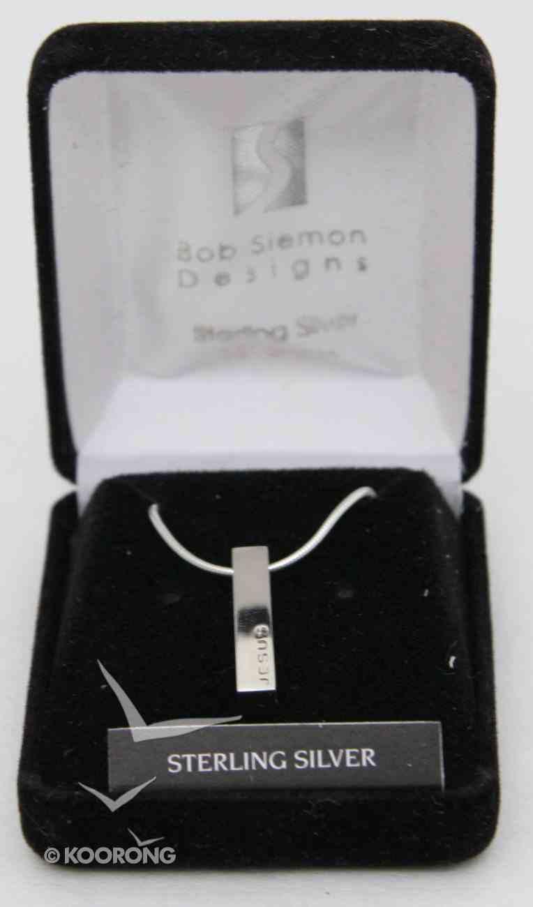 Pendant: Jesus Block (Solid Sterling Silver) Jewellery