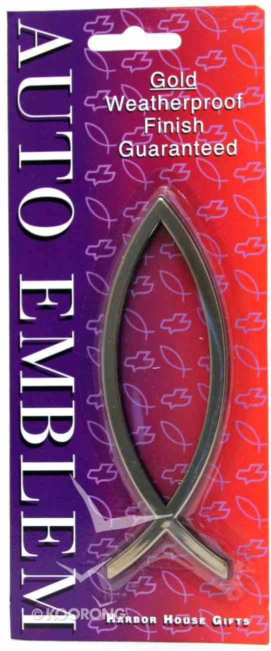 Auto Emblem Sticker: Gold Fish Large Stickers