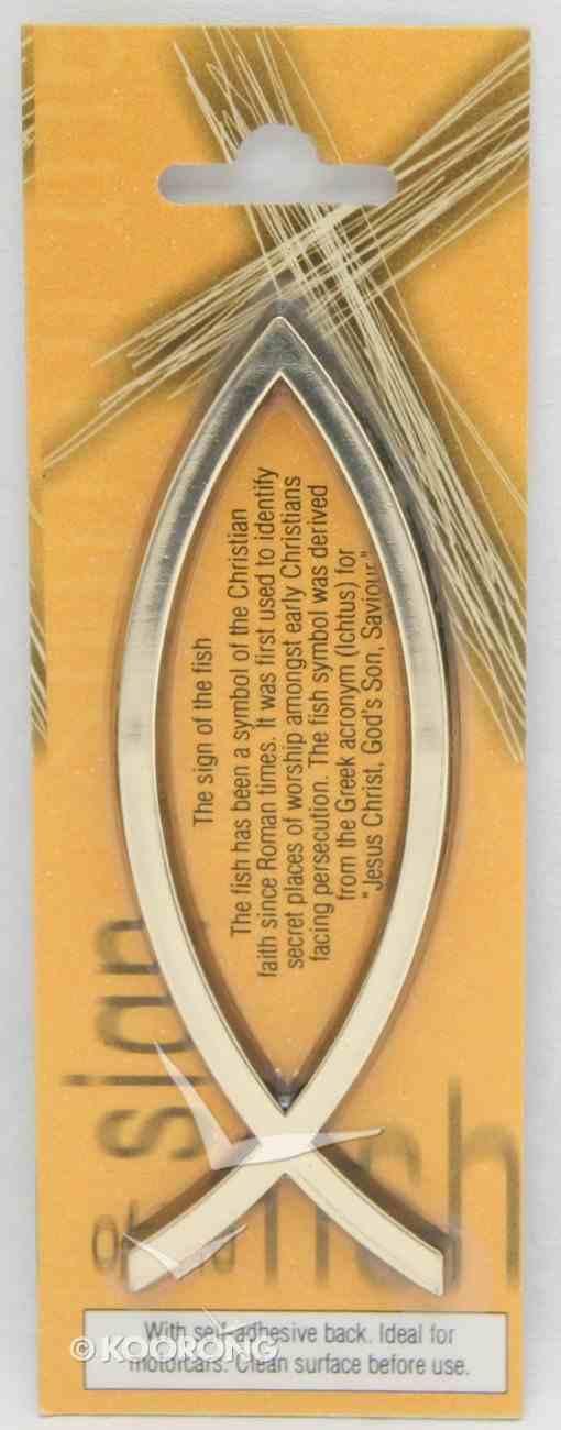 Sticker: Fish Emblem Gold Novelty