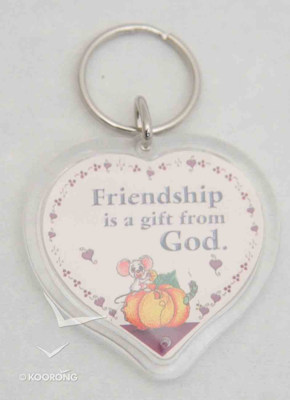 Plastic Keyring: Friendship is a Gift From God Novelty