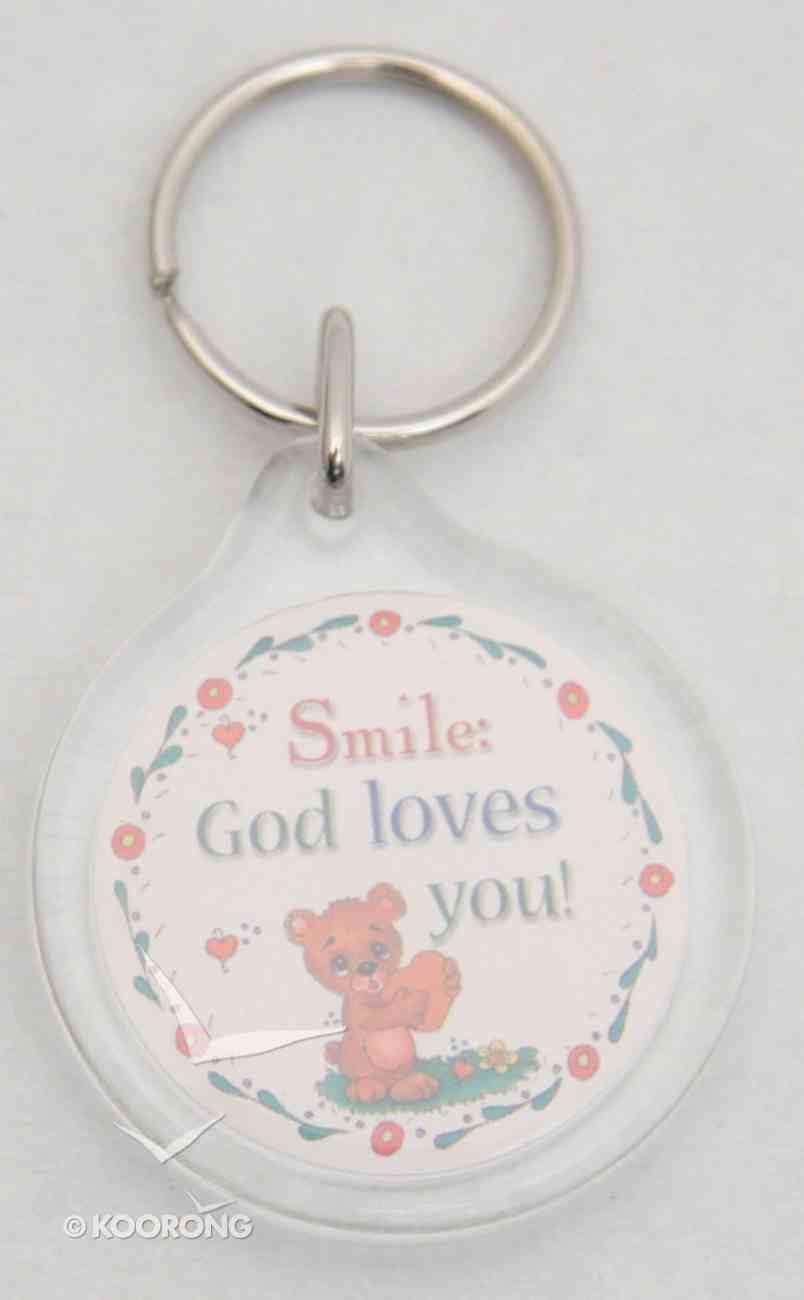 Plastic Keyring: Smile God Loves You Novelty