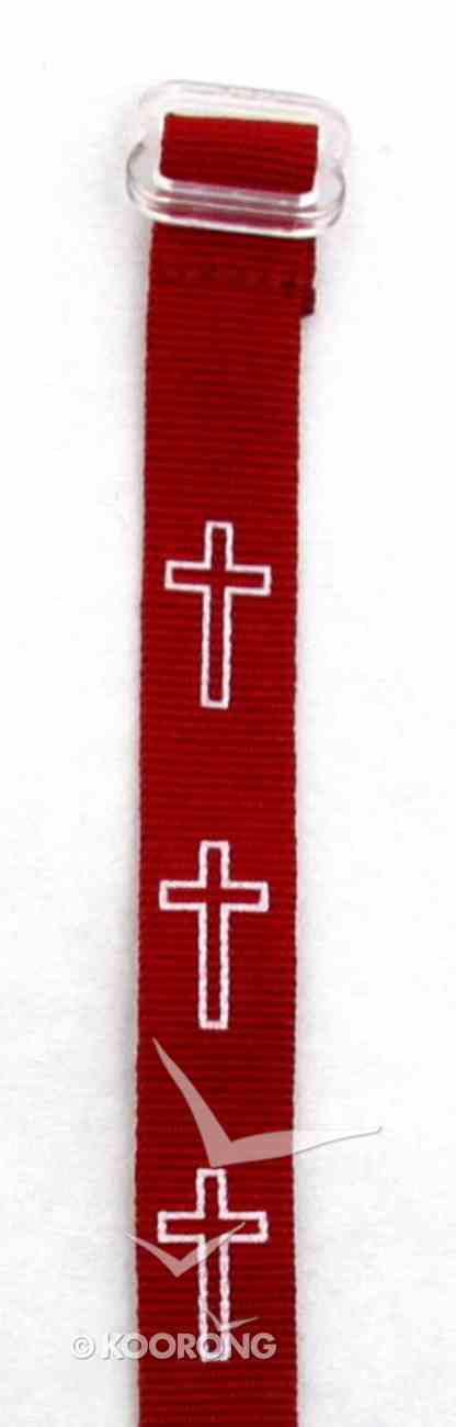 Wristband: Cross Maroon Jewellery