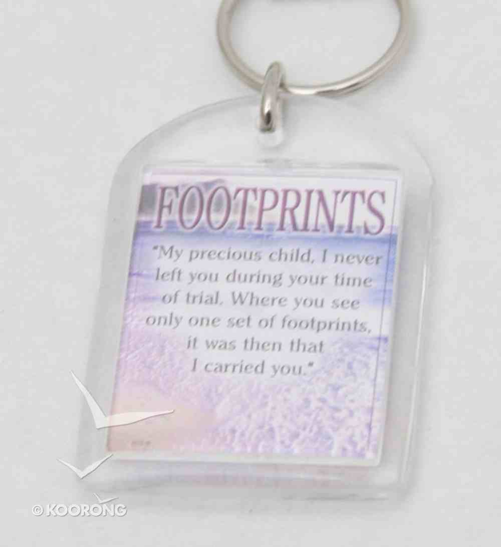 Plastic Keyring: Footprints Novelty