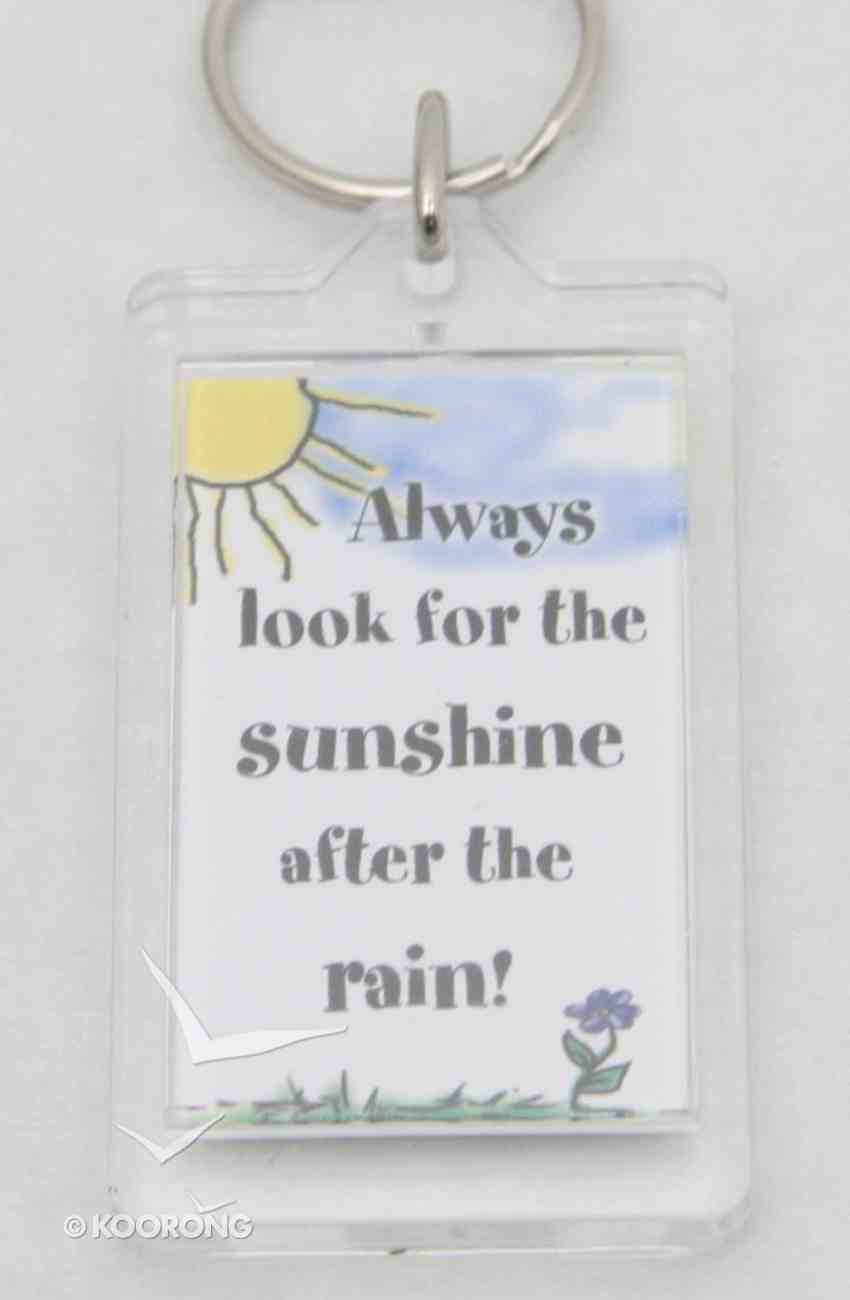 Plastic Keyring: Always Look For the Sunshine Novelty