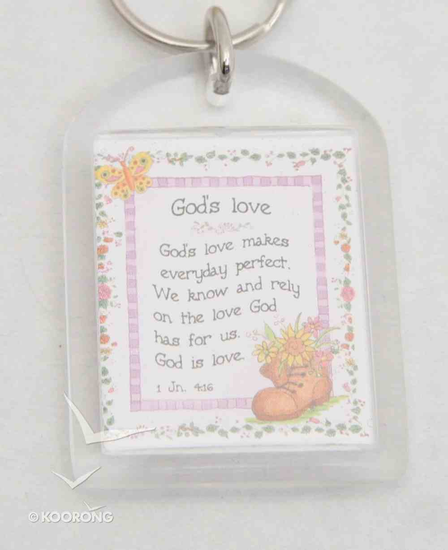 Plastic Keyring: God's Love Makes Everyday Perfect Novelty