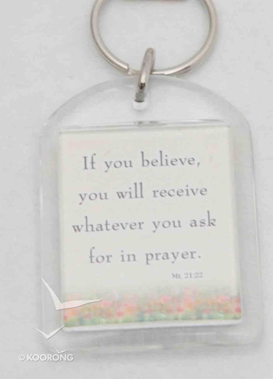 Plastic Keyring: Prayer Brightens Your Day Novelty