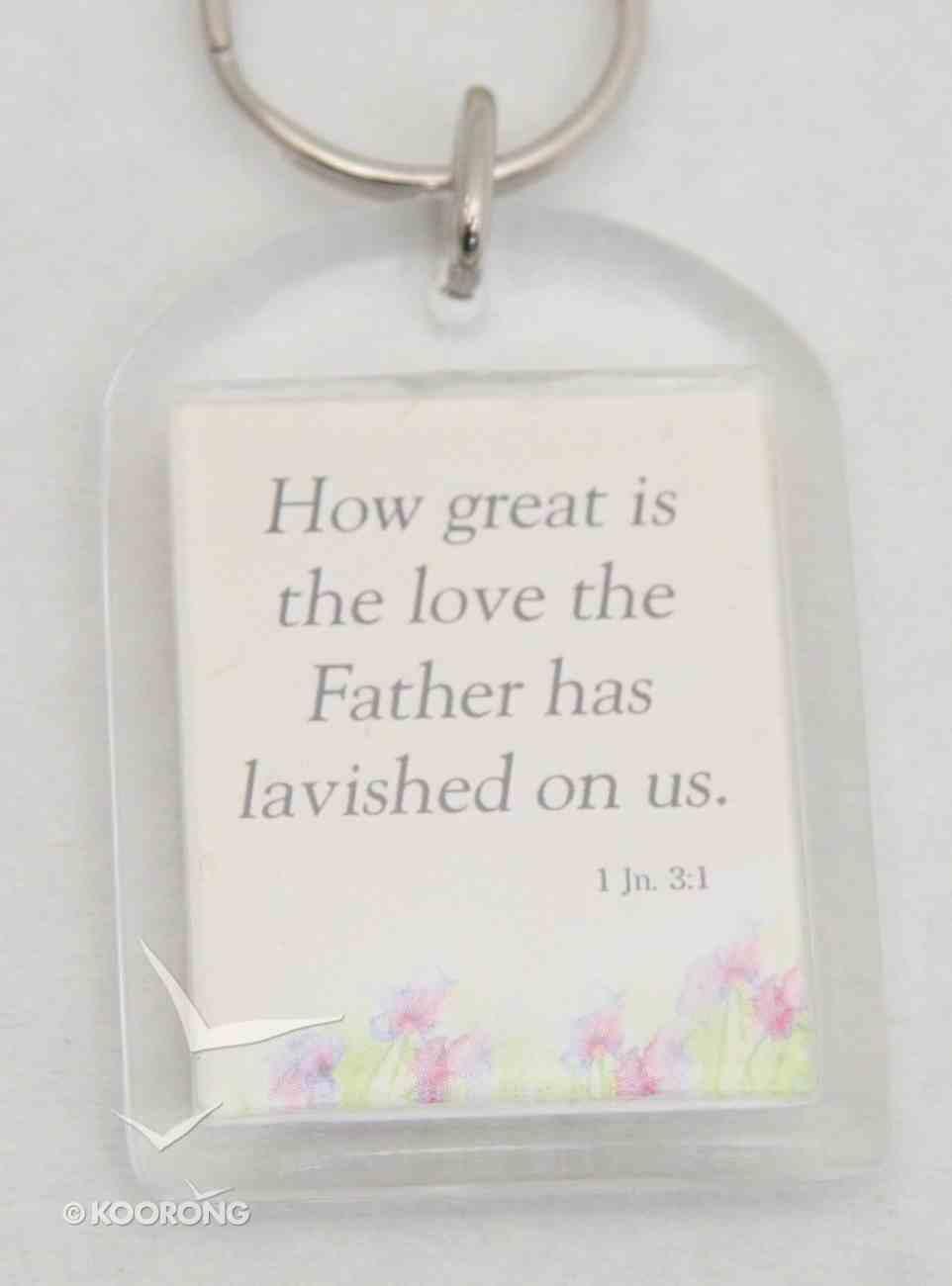 Plastic Keyring: God's Love Novelty