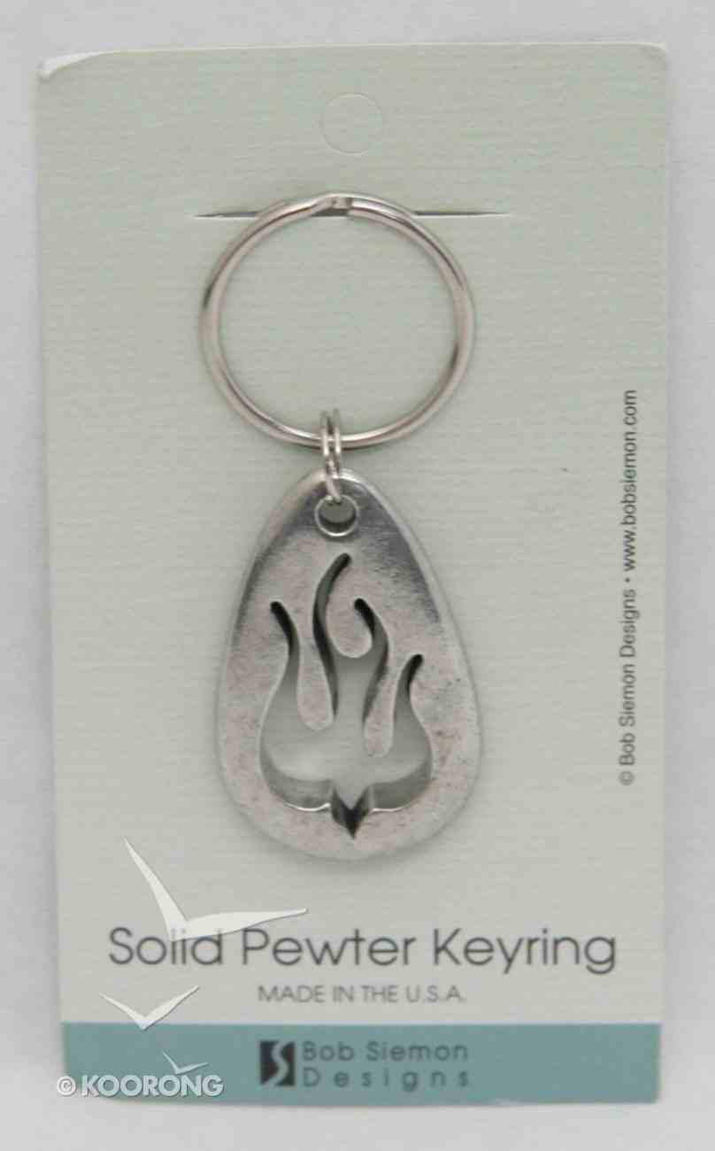 Keyring: Flame Dove (Lead-free Pewter) Jewellery