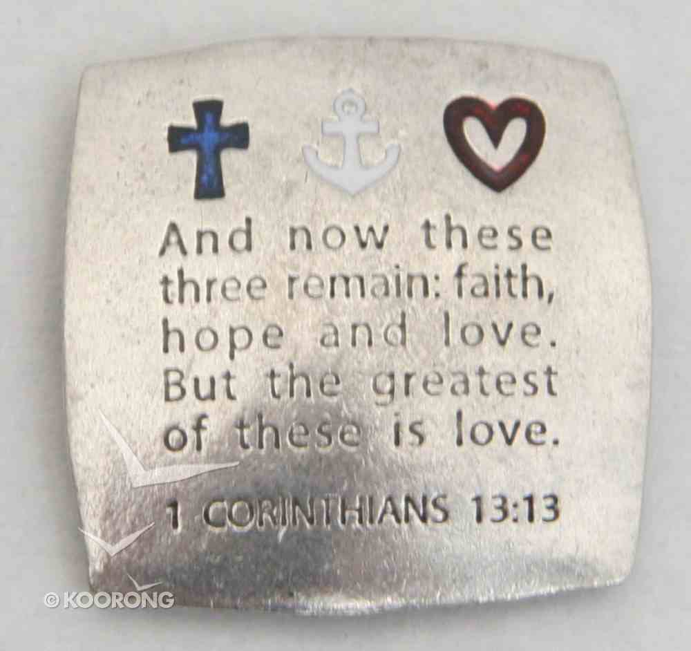 Magnet: Faith Hope Love (Solid Pewter) Novelty