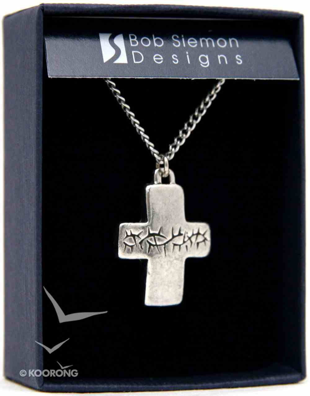 Pendant: Puffy Thorns Cross (Pewter) Jewellery