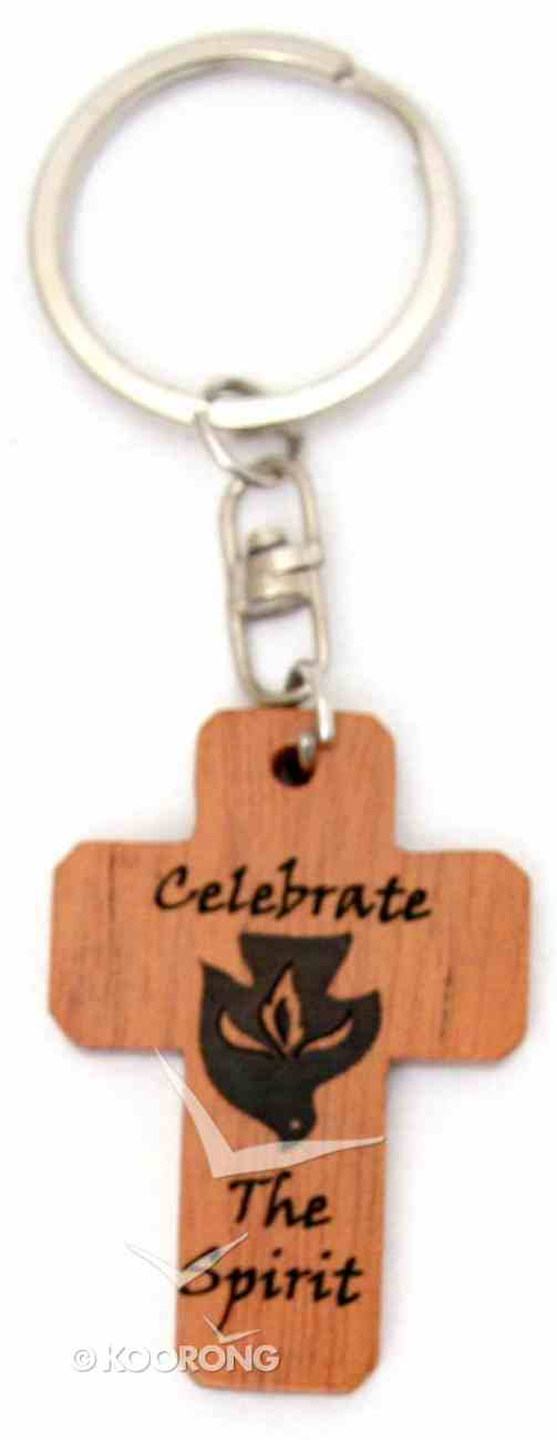 Cross Keyring: Celebrate the Spirit (Mahogany) Novelty