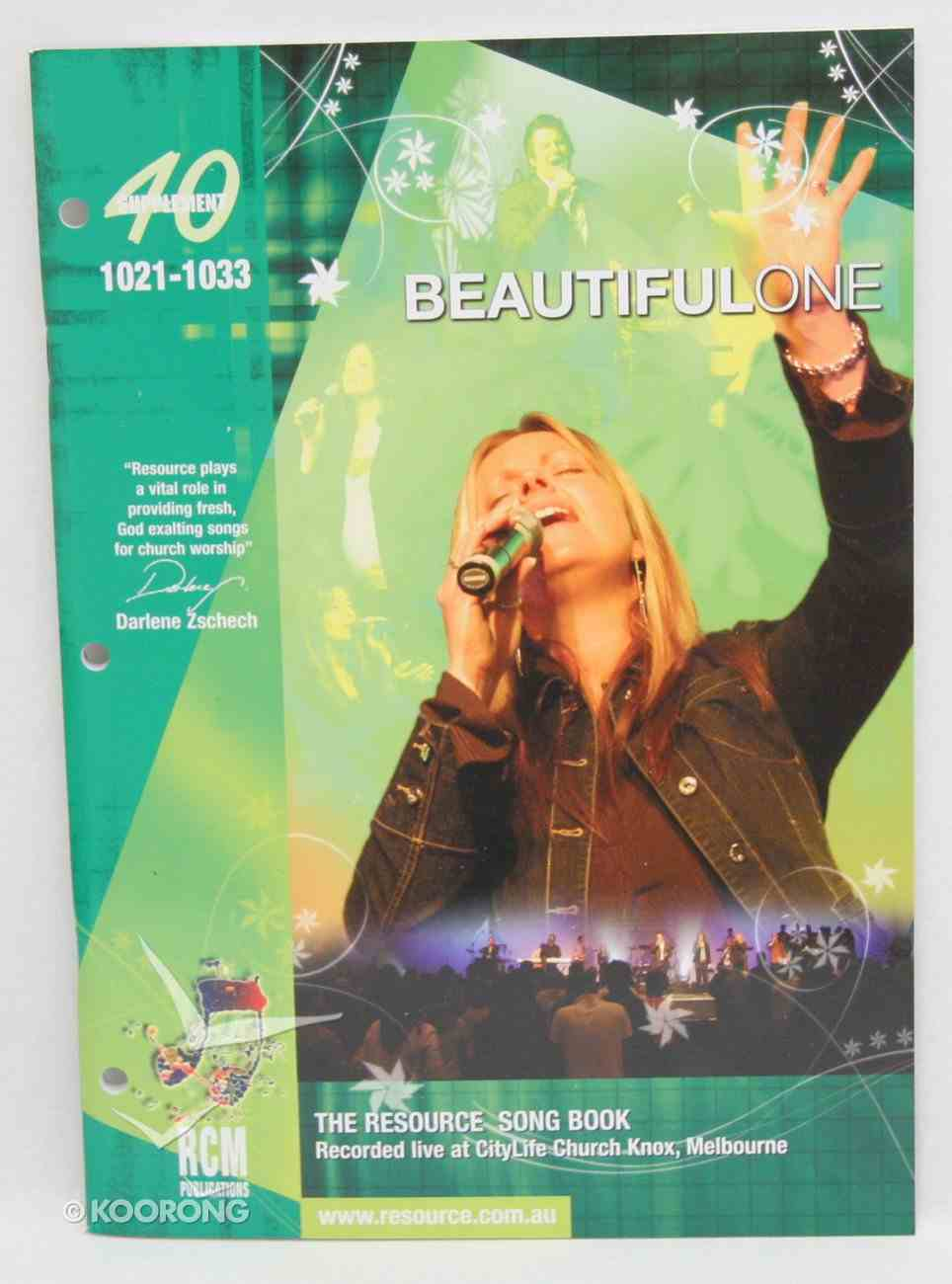 Rcm Volume G: Supplement 40 Beautiful One (Music Book) (1021-1033) Paperback