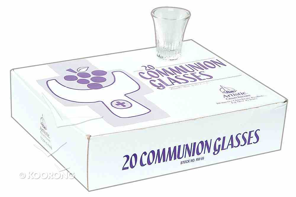 Communion Glasses: Crystal (1 1/2') (Rw-66Pk) (Box 20) Church Supplies