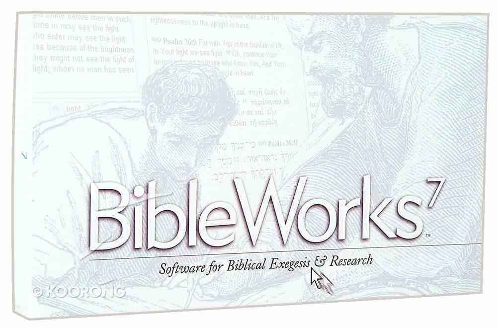 Bible Works 7.0 CDROM Win CD-rom