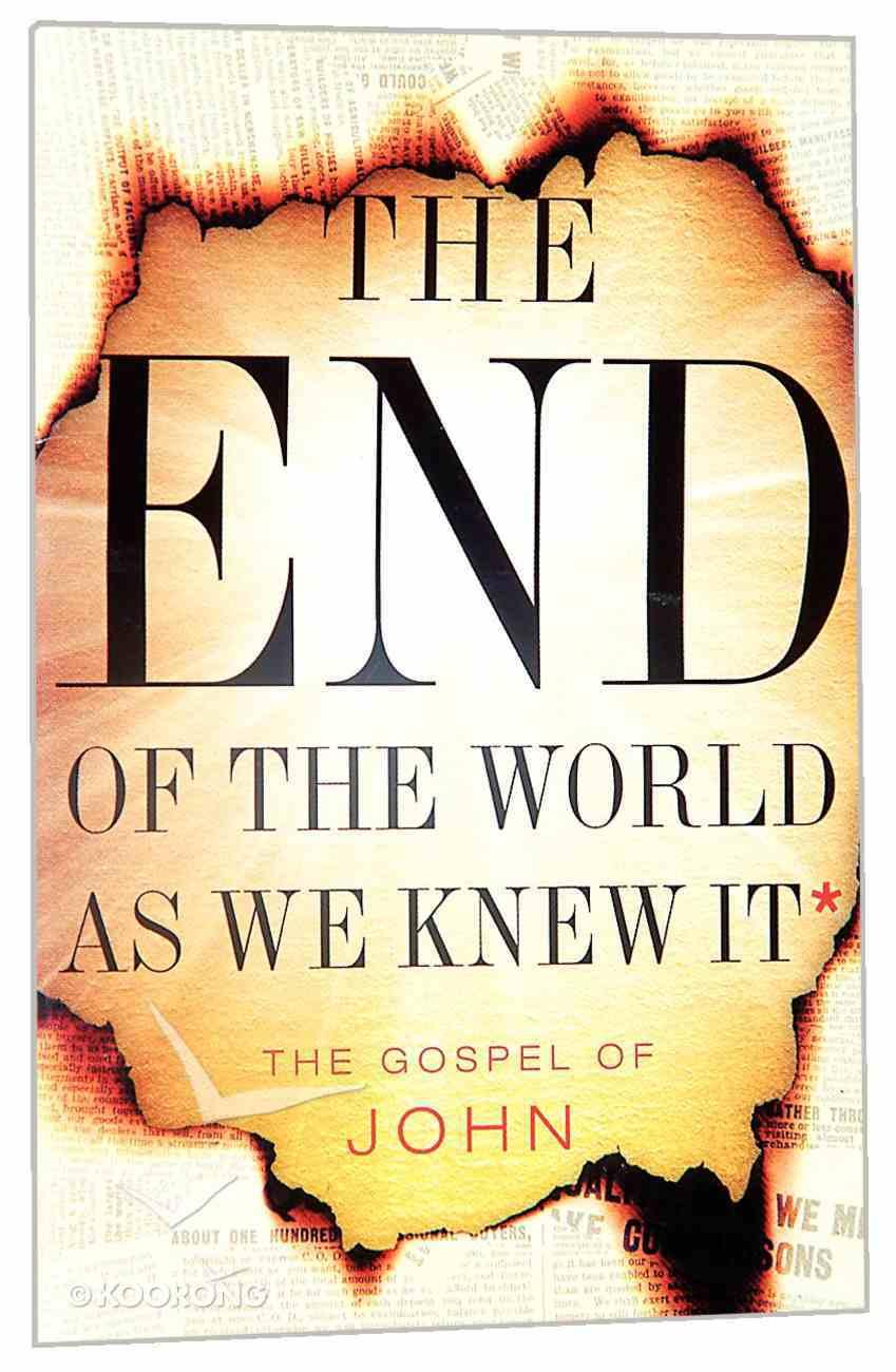 TNIV Pocket Gospel of John: End of the World Cover Paperback