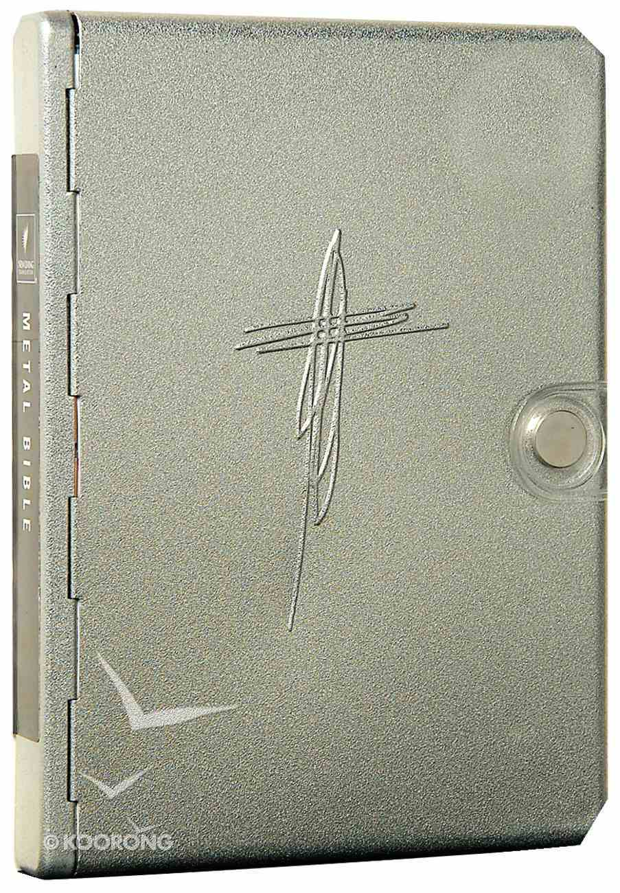 NLT Metal Bible Silver Cross (Black Letter Edition) (1st Ed.) Metal