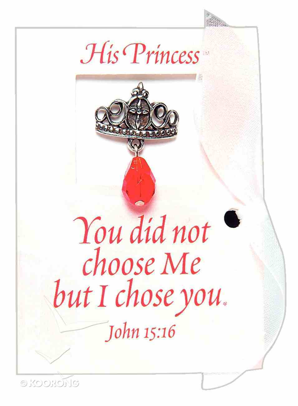 His Princess: Message Card With Crown Lapel Pin Jewellery