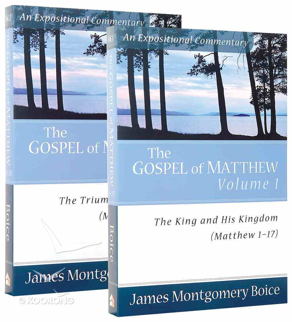 Gospel of Matthew 2-Pack (2 Vols) (Expositional Commentary Series) Pack