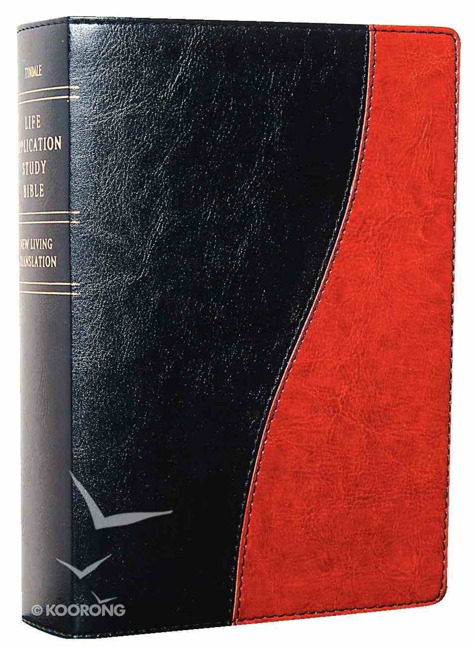NLT Life Application Study Personal Black/Tan (Red Letter Edition) Imitation Leather