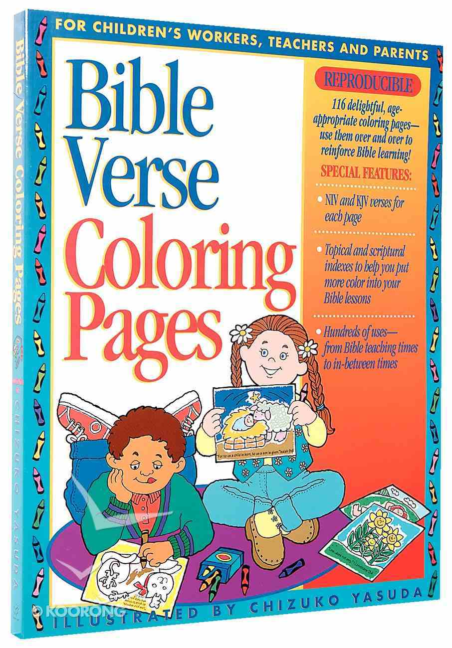 Bible Verse Coloring Pages Paperback