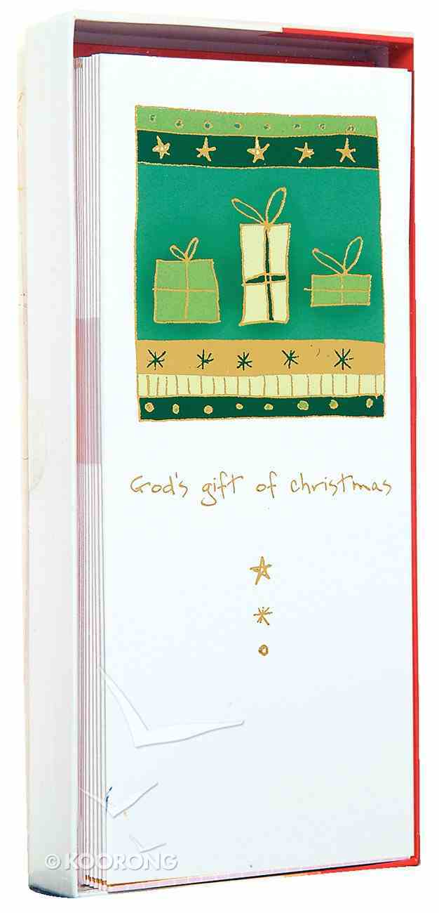 Christmas Boxed Cards: God's Gift Gold Foiled Cards