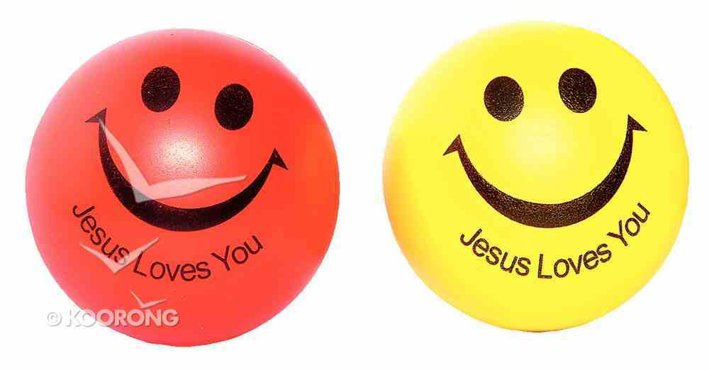 Squeeze Ball Pack of 2: Red & Yellow, Jesus Loves You Novelty