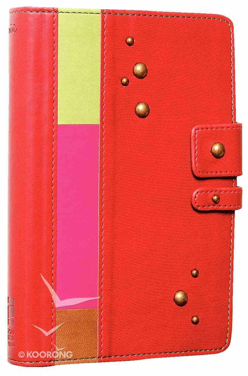 NIV Backpack Cinnamon Stripe Imitation Leather