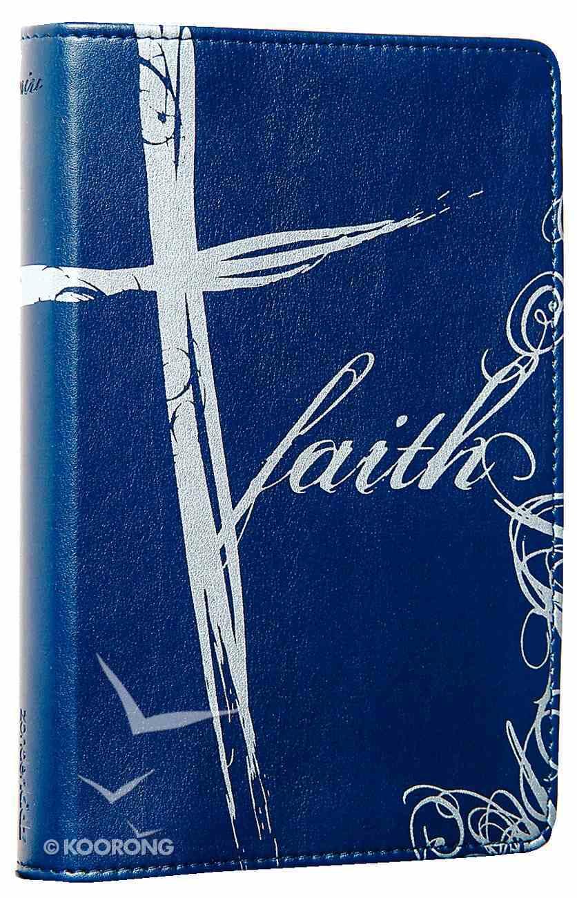 NIV Backpack Blue Faith Imitation Leather