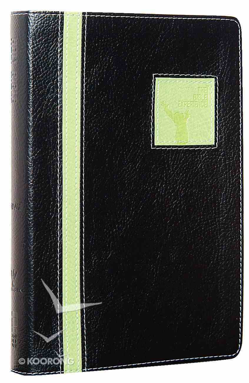 TNIV the Bible Experience Companion Black Lime Duo-Tone (Red Letter Edition) Imitation Leather