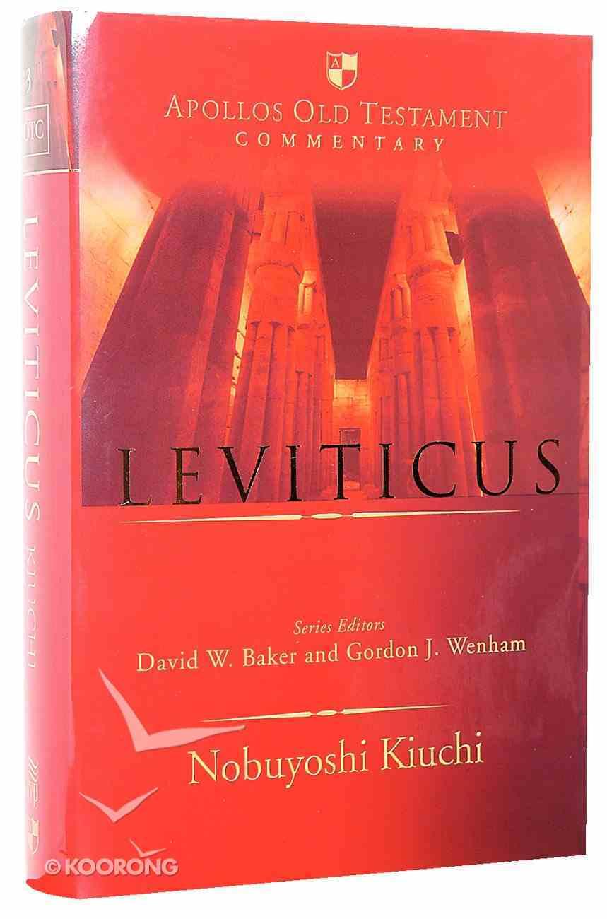 Leviticus (Apollos Old Testament Commentary Series) Hardback