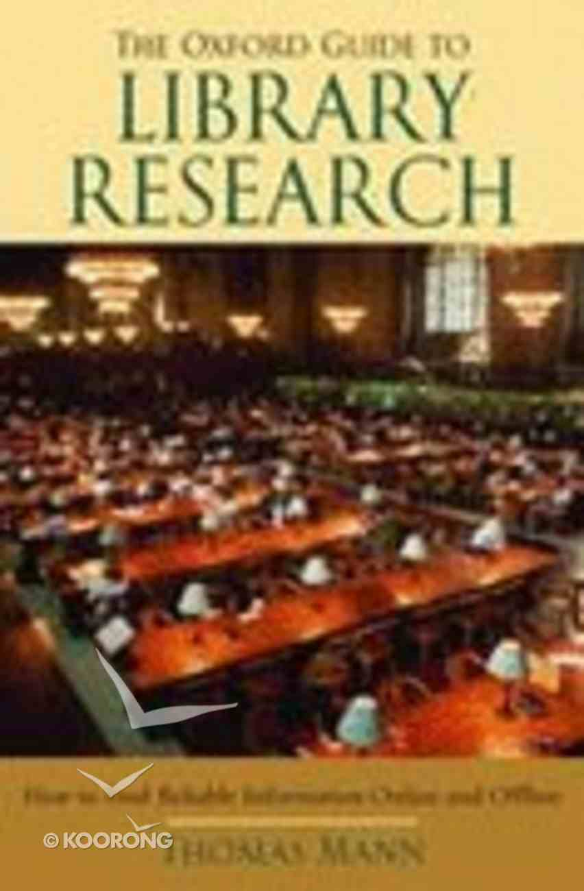 The Oxford Guide to Library Research (3rd Edition) Paperback