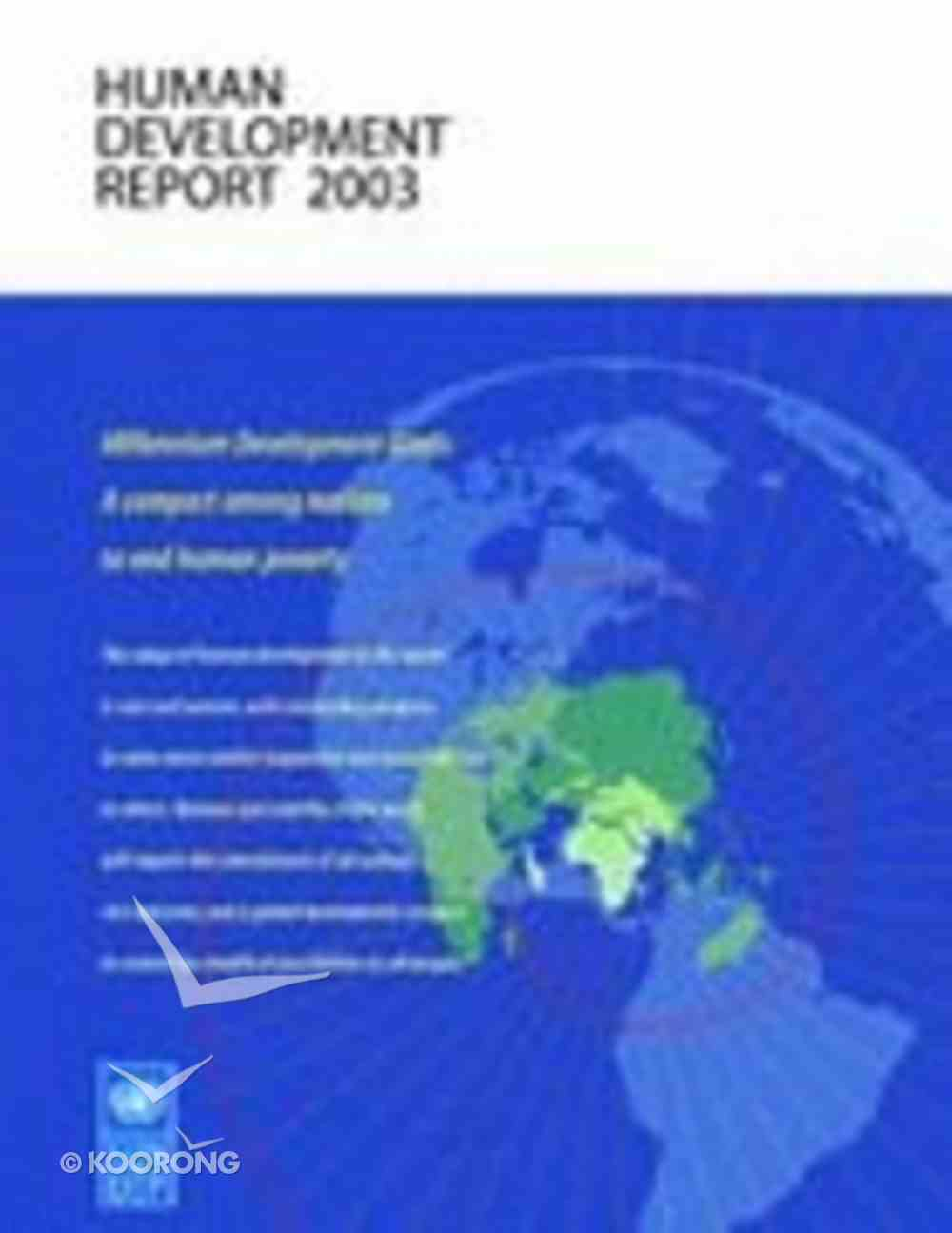Human Development Report 2003 Paperback