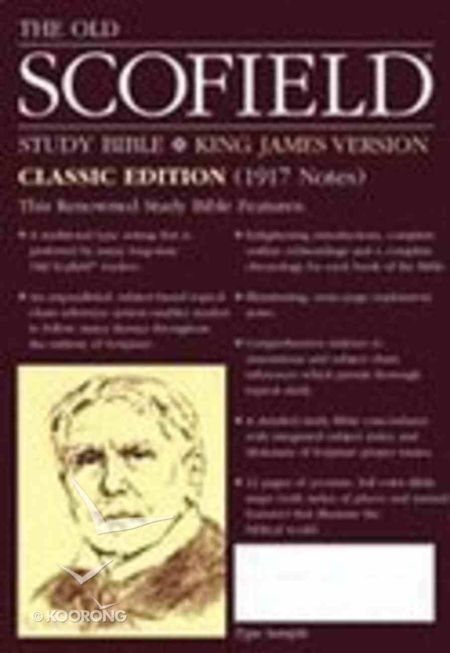 KJV Old Scofield Study Burgundy (Classic Edition) Bonded Leather