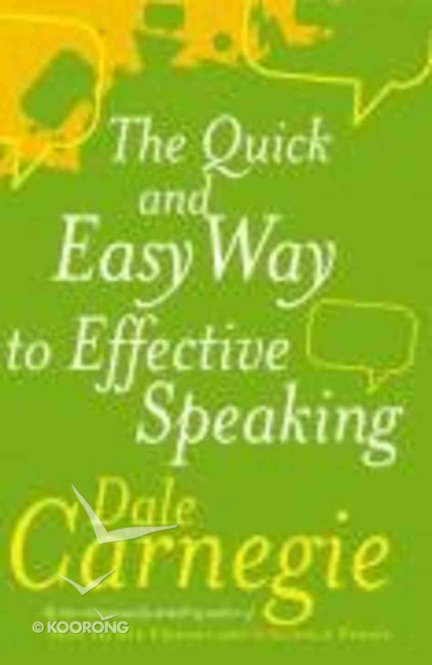 Quick and Easy Way to Effective Speaking Paperback
