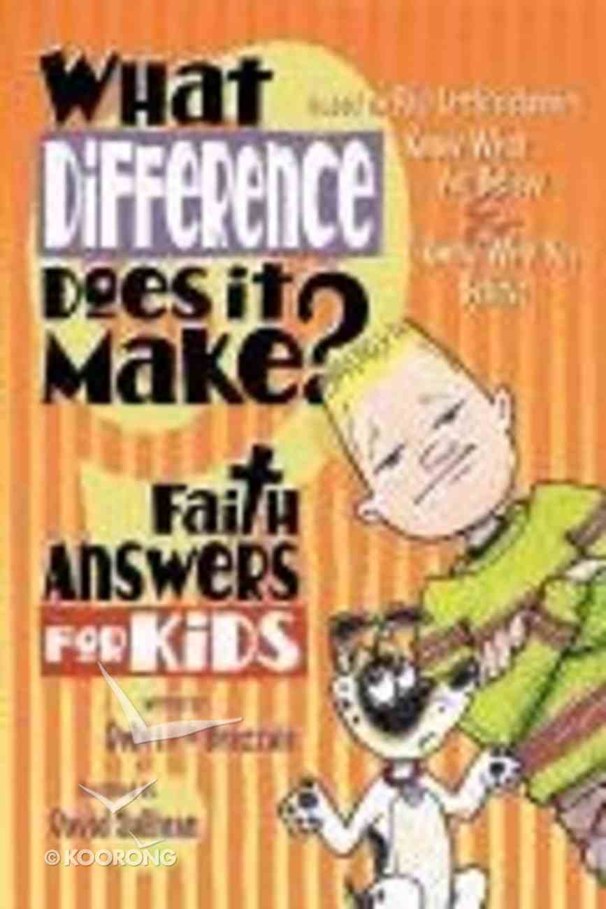 What Difference Does It Make? Paperback