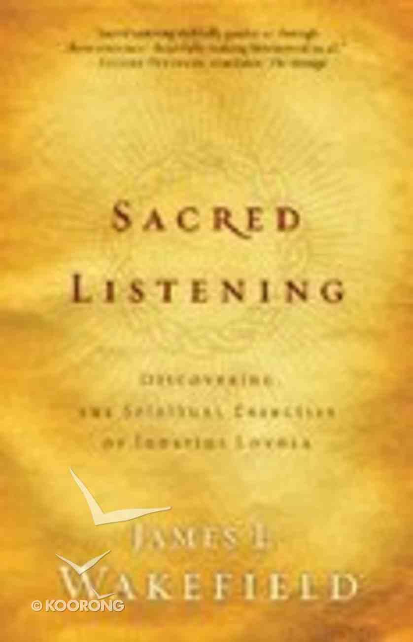 Sacred Listening Paperback