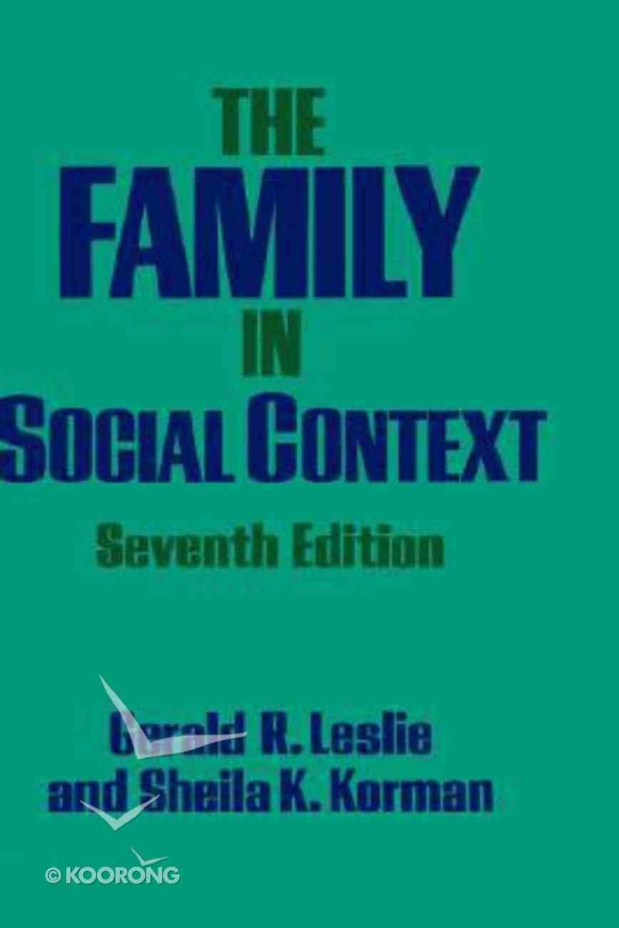 Family in Social Context Hardback