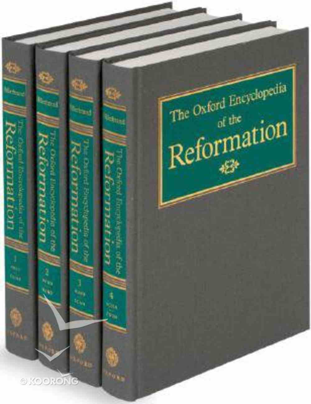 Oxford Encyclopedia of the Reformation 4v Hardback