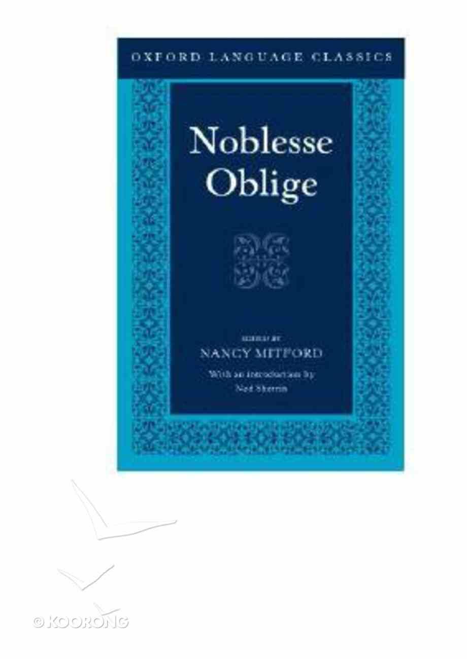 Noblesse Oblige Paperback