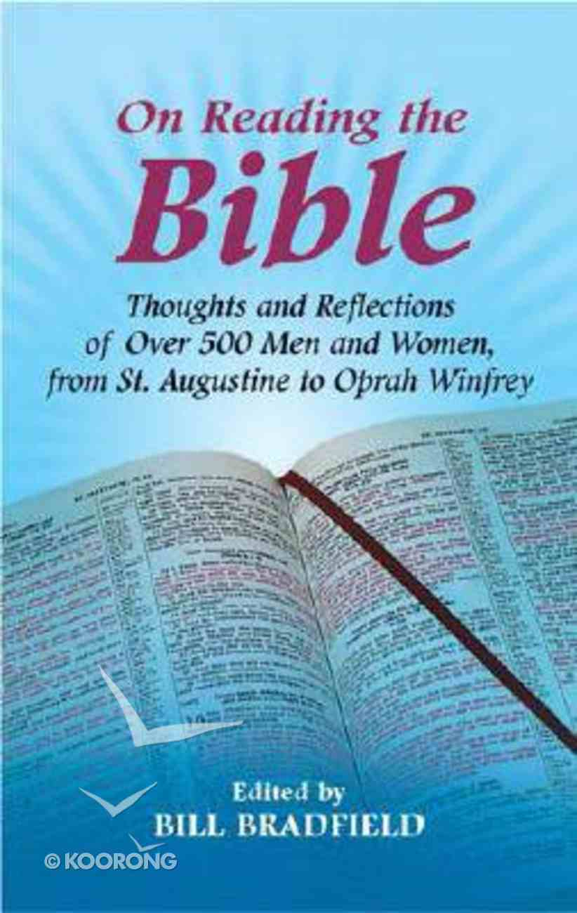 On Reading the Bible Paperback