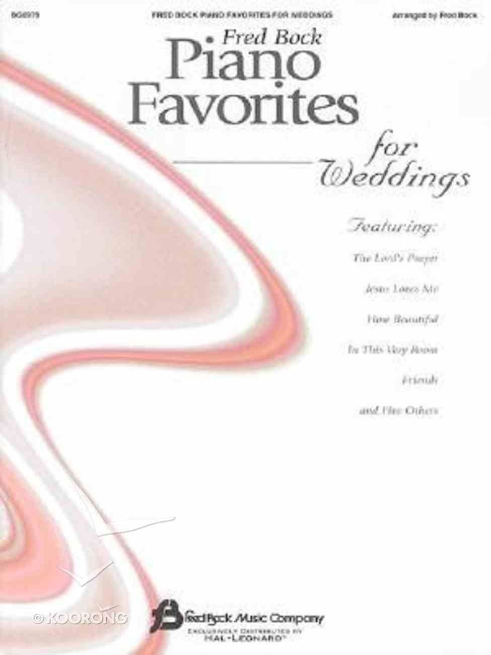 Piano Favorites For Weddings Paperback