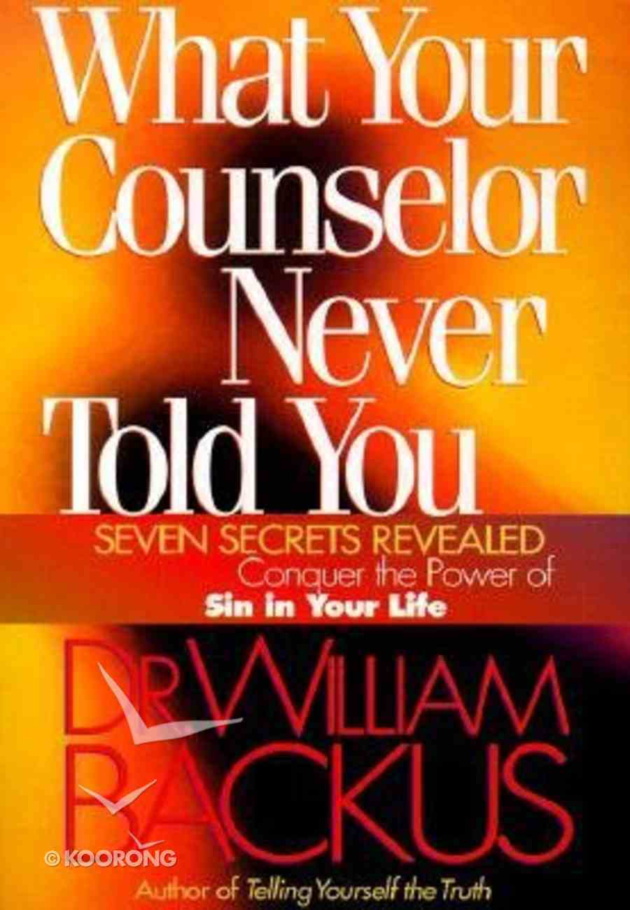 What Your Counselor Never Told You Paperback