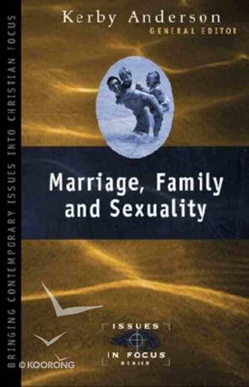 Marriage, Family & Sexuality Paperback