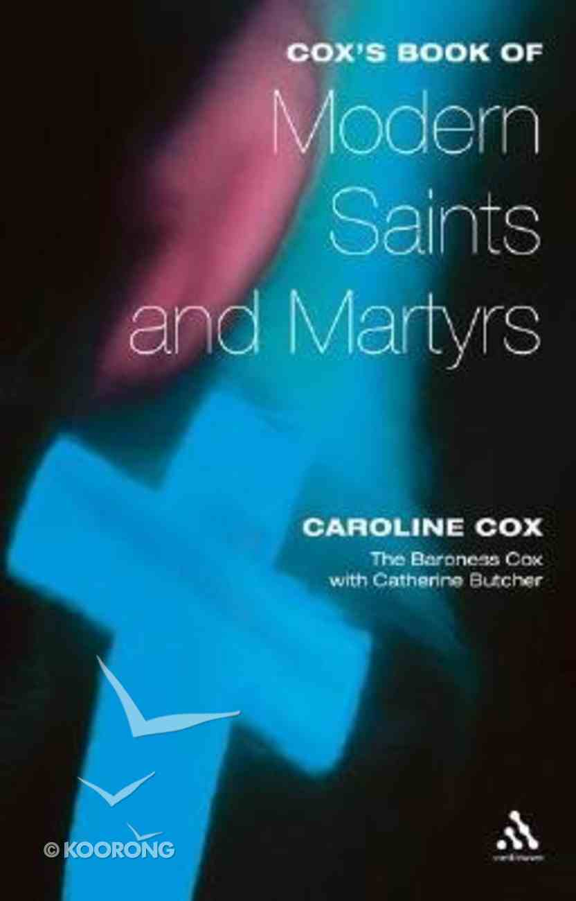 Cox's Book of Modern Saints and Martyrs Paperback
