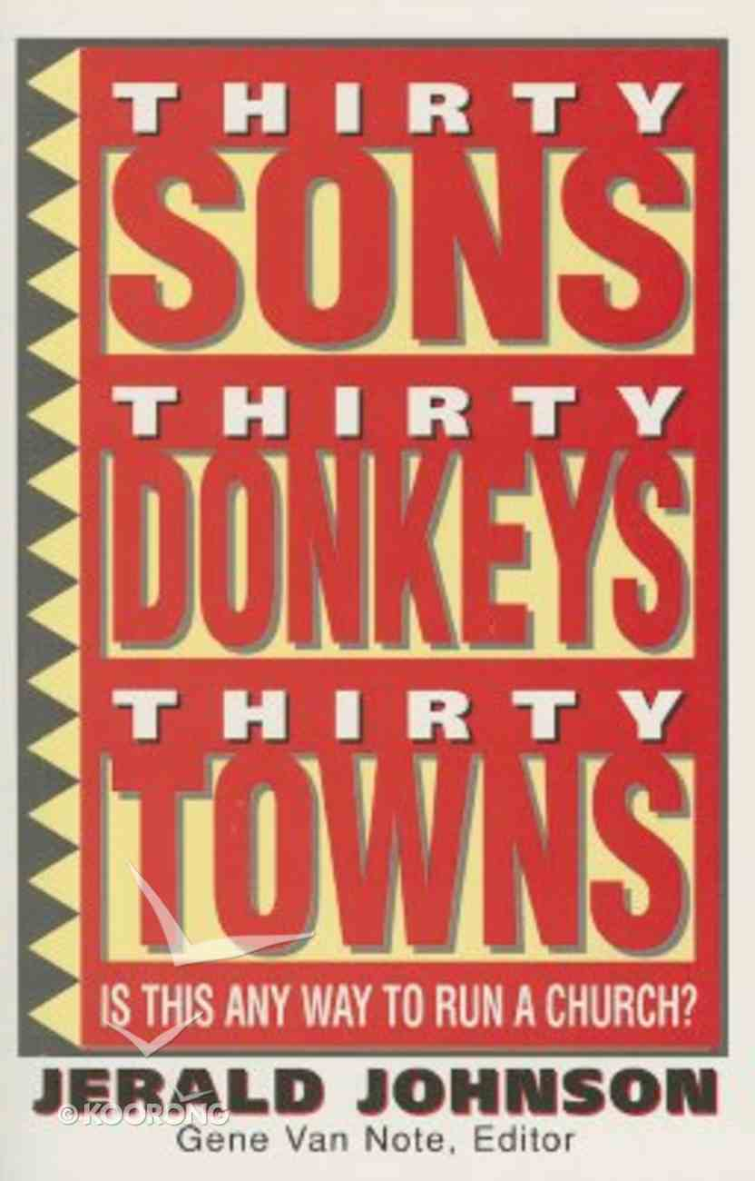 Thirty Sons Thirty Donkeys Thirty Towns Paperback