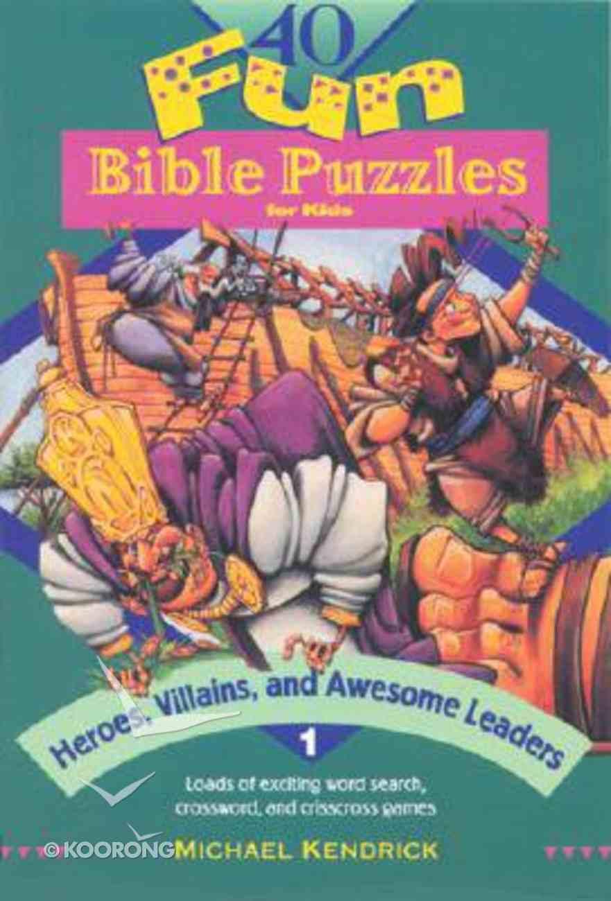 40 Fun Bible Puzzles #01 Paperback
